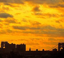 Sky over Washington Bridge, New York City  by Alberto  DeJesus