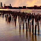 Sunset On The Hudson by Chris Lord