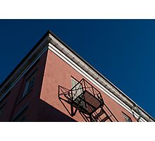 Tops of Buildings in Downtown Port Hope: Fire Escape Photographic Print