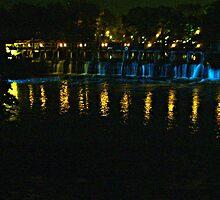 Bridge Lights at Phillipsburg Manor, Sleepy Hollow NY by Jane Neill-Hancock