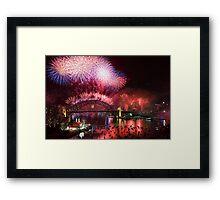 Sydney on Fire Framed Print