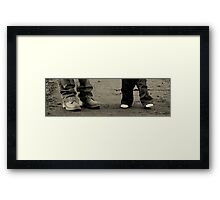 Mum & son... First Steps Framed Print