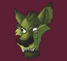 Green wolf head with shading  by The Tundra Ghost