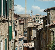 A little street in Siena, Italy, by Mandy Fransz