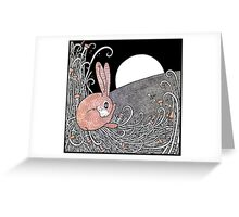 Full Moon Hare Greeting Card