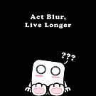 Act Blur, Live Longer (Dark) iPhone/iPod Cases by frozenfa
