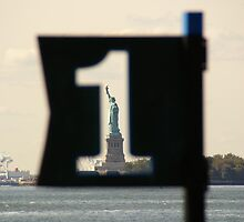 Liberty seen from Battery Park by Mark  Johnstone