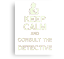 Consult the Detective Metal Print