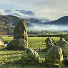 Helvellyn From Castlerigg Stone Circle by VoluntaryRanger