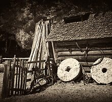 Old Grist Mill Stones by ©  Paul W. Faust