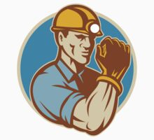 Coal Miner With Clenched Fist Retro by patrimonio