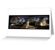 Night Cityscape Oil Painting Greeting Card