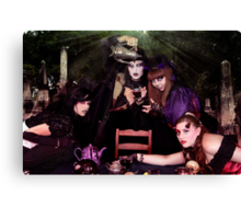 A Bloody Tea Party Canvas Print