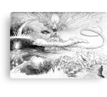 end of days sketch Canvas Print