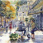 Baden-Baden Sophienstr Last Warm Day by Yuriy Shevchuk
