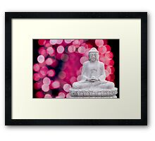 buddha lights (blue red) Framed Print