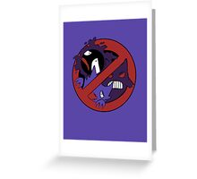 Ghost-Type Busters. Greeting Card