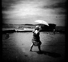 Shade seeker, Terrigal Beach, NSW by Mamafro