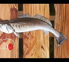 "96. ""Chris' Trout from Baffin Bay, Texas."" by amyglasscockart"
