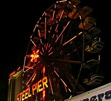 Ferris Wheel on the Steel Pier at Night, Atlantic City NJ by Jane Neill-Hancock