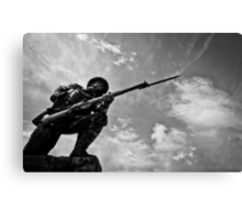 Soldier on Canvas Print