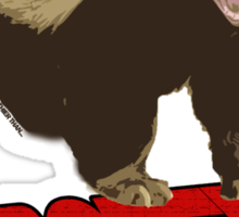Honey badger dont give a sh*t Sticker