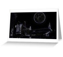 Full Moon On A Windy Night  3 Greeting Card