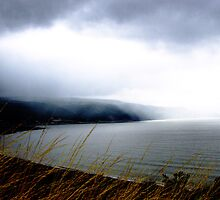 Storm over Porlock Bay by Robert Down