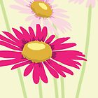 Pink Daisies by Angela Thompson