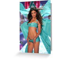 Victoria's Secret Fashion model Adriana Lima walks the runway Greeting Card