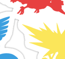 Pokemon Legendary Birds Tee Sticker