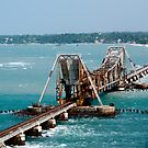 the railway bridge which opens up to allow ships to pass through by vishwadeep  anshu