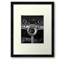 Classic Ford Truck Dashboard Framed Print
