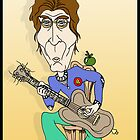 John Lennon Guitar Cartoon/ Cartoon Caricature by Grant Wilson