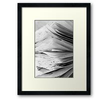 Are the pages blank ? Framed Print
