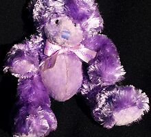 Teddy in Purple by Bev Pascoe
