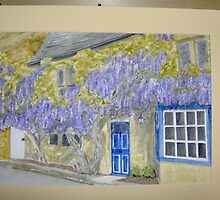 wisteria cottage in Broadway by Hazel Locke