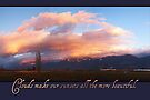 Clouds Make Sunsets More Beautiful (Card) by Tracy Friesen