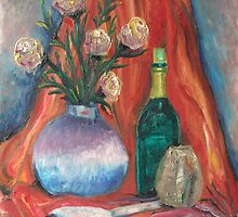 Flowers,wine and passion by evonealawi
