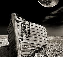 fishing boat graveyard moon by meirionmatthias