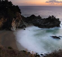 Mc Way falls in Big Sur, California by Pierre Leclerc
