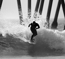 Huntington Beach Surfer by Pierre Leclerc