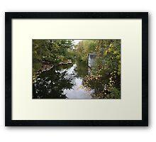 Oconomowoc Riverscape Framed Print