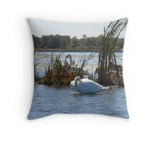 Trumpeter Swans Throw Pillow