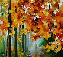 FOGGY FOREST - LEONID AFREMOV by Leonid  Afremov