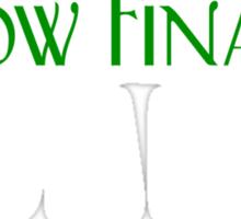 I Know Finance Like A Boss - Green, White Sticker