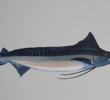 Blue Marlin Painting by mhm710