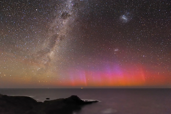Red Aurora Over Australia  by Alex Cherney