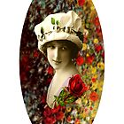 Flower Lady Collage by Welte Arts &amp; Trumpery