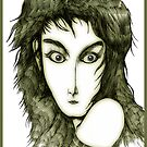 Kate Bush Pen Drawn Caricature 2 by Grant Wilson